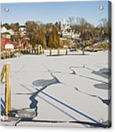 Rockport Maine In Winter Acrylic Print by Keith Webber Jr