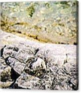 Rocks At Georgian Bay Acrylic Print by Elena Elisseeva
