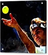 Roger Federer Tennis 1 Acrylic Print by Lanjee Chee