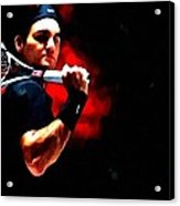Roger Federer Tennis Acrylic Print by Lanjee Chee