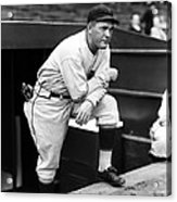 Rogers Hornsby Leaning On One Knee Acrylic Print by Retro Images Archive
