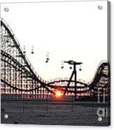 Roller Coaster Acrylic Print by John Rizzuto