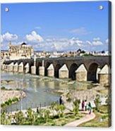 Roman Bridge In Cordoba Acrylic Print by Artur Bogacki