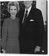 Ronald And Nancy Reagan Acrylic Print by War Is Hell Store