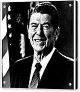 Ronald Reagan Acrylic Print by Benjamin Yeager