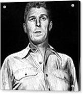 Ronald Regan Acrylic Print by Peter Piatt
