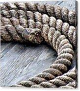 Rope Acrylic Print by Janice Drew