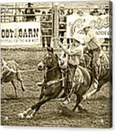 Roping Acrylic Print by Caitlyn  Grasso