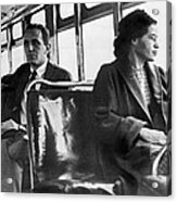 Rosa Parks On Bus Acrylic Print by Underwood Archives