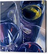 Rosenblum And Glasses Acrylic Print by Donna Tuten