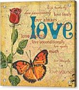 Roses And Butterflies 2 Acrylic Print by Debbie DeWitt