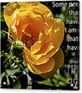 Roses Have Thorns Acrylic Print by Janice Rae Pariza