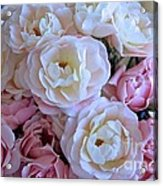 Roses On The Veranda Acrylic Print by Carol Groenen