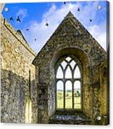 Ross Errilly Friary - Irish Monastic Ruins Acrylic Print by Mark E Tisdale