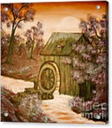 Ross's Watermill Acrylic Print by Barbara Griffin