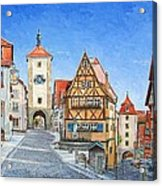 Rothenburg Germany Acrylic Print by Mike Rabe