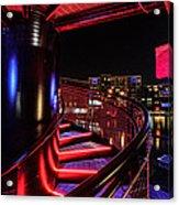 Round Staircase Acrylic Print by Randy Scherkenbach