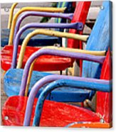 Route 66 Chairs Acrylic Print by Art Block Collections