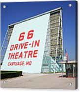 Route 66 Drive-in Theatre Acrylic Print by Frank Romeo