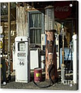 Route 66 Pumps Acrylic Print by Bob Christopher