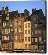 Row Of Houses. Honfleur Harbour. Calvados. Normandy. France. Europe Acrylic Print by Bernard Jaubert