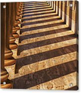 Row Of Pillars Acrylic Print by Garry Gay