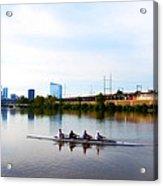 Rowing In Philadelphia Acrylic Print by Bill Cannon
