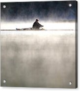 Rowing Acrylic Print by Mitch Cat