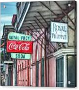 Royal Pharmacy Acrylic Print by Brenda Bryant