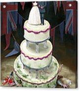 Royal Wedding 2011 Cake Acrylic Print by Martin Davey