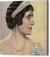 Royalty 1939 1930s Uk Queen Elizabeth Acrylic Print by The Advertising Archives