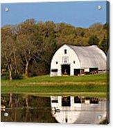Rt 66 Hay Farm Oklahoma Acrylic Print by T Lowry Wilson
