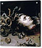 Rubens, Peter Paul 1577-1640. Head Acrylic Print by Everett