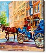 Rue Notre Dame Caleche Ride Acrylic Print by Carole Spandau