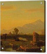 Ruins Of Paestum Acrylic Print by Albert Bierstadt