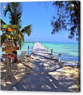 Rum Point Acrylic Print by Carey Chen