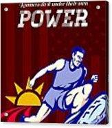 Runner Running Power Poster Acrylic Print by Aloysius Patrimonio