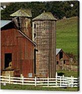 Rural Barn Acrylic Print by Bill Gallagher
