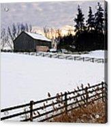 Rural Winter Landscape Acrylic Print by Elena Elisseeva