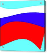 Russian Flag Acrylic Print by Lali Kacharava