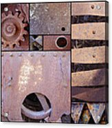 Rust And Metal Abstract  Acrylic Print by Ann Powell