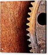 Rusted Gear Acrylic Print by Jim Hughes