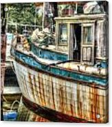 Rusted Wood Acrylic Print by Michael Thomas