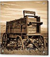 Rustic Covered Wagon Acrylic Print by Athena Mckinzie