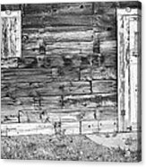 Rustic Old Colorado Barn Door And Window Bw Acrylic Print by James BO  Insogna