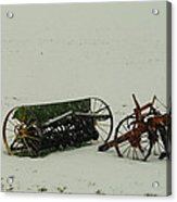 Rusting In The Snow Acrylic Print by Jeff Swan