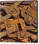 Rusting Wrenches Acrylic Print by Robert Jensen
