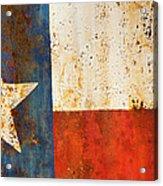 Rusty Texas Flag Rust And Metal Series Acrylic Print by Mark Weaver