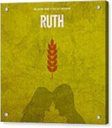 Ruth Books Of The Bible Series Old Testament Minimal Poster Art Number 8 Acrylic Print by Design Turnpike
