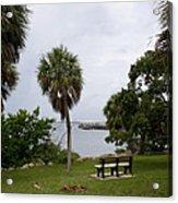 Ryckman Park In Melbourne Beach Florida Acrylic Print by Allan  Hughes